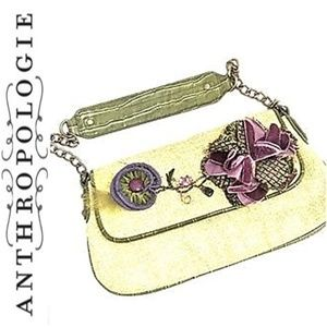 ANTHROPOLOGIE FLORAL CLUTCH